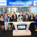 ABB's YuMi collaborative robot rings opening bell at Nasdaq stock market
