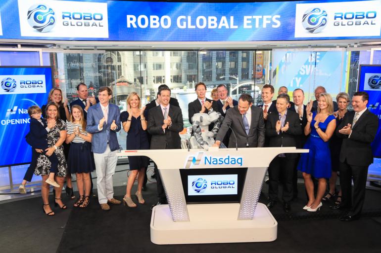 ABB's YuMi collaborative robot rings opening bell at Nasdaq stock market
