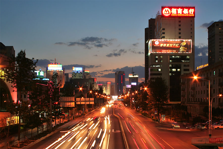 china Kunming_night