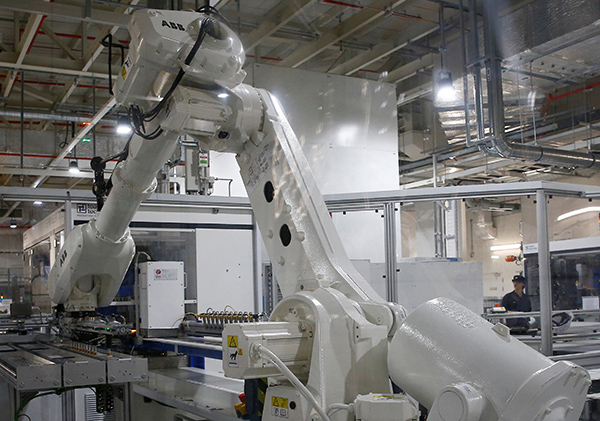 REC solar panel manufacturing plant in Singapore