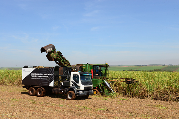 Volvo self-steering truck and sugar cane truck