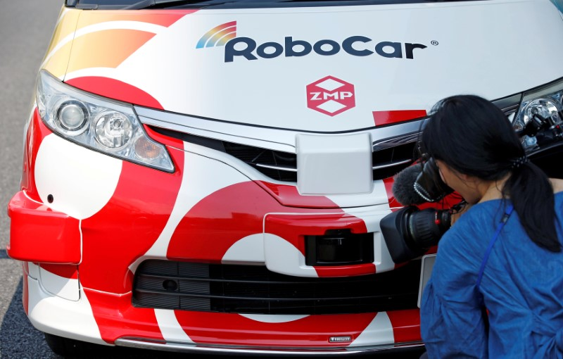ZMP's RoboCar MiniVan, a self-driving Toyota Estima Hybrid car