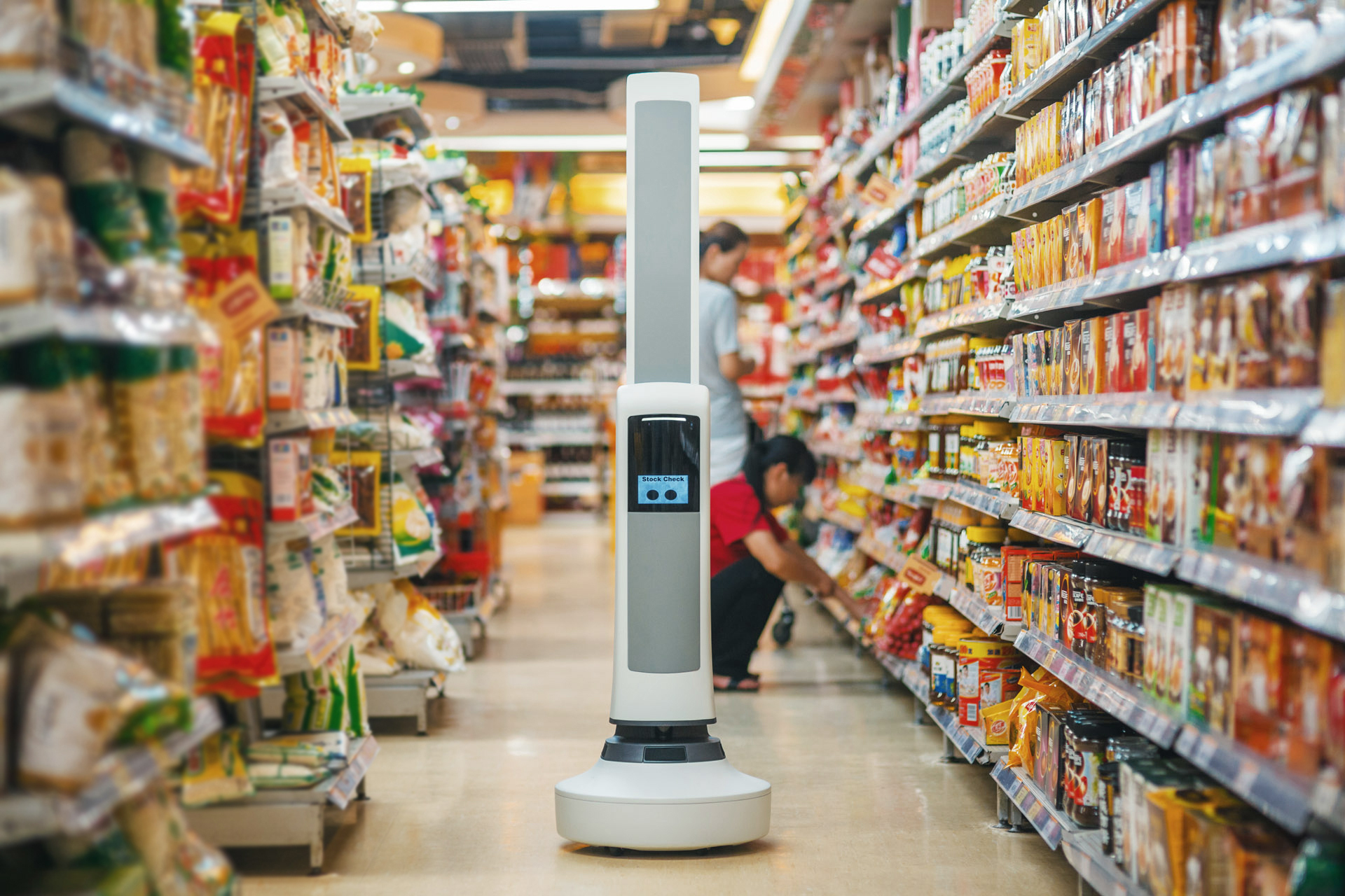 Schnucks grocery stores give Tally the robot some work to do checking the shelves