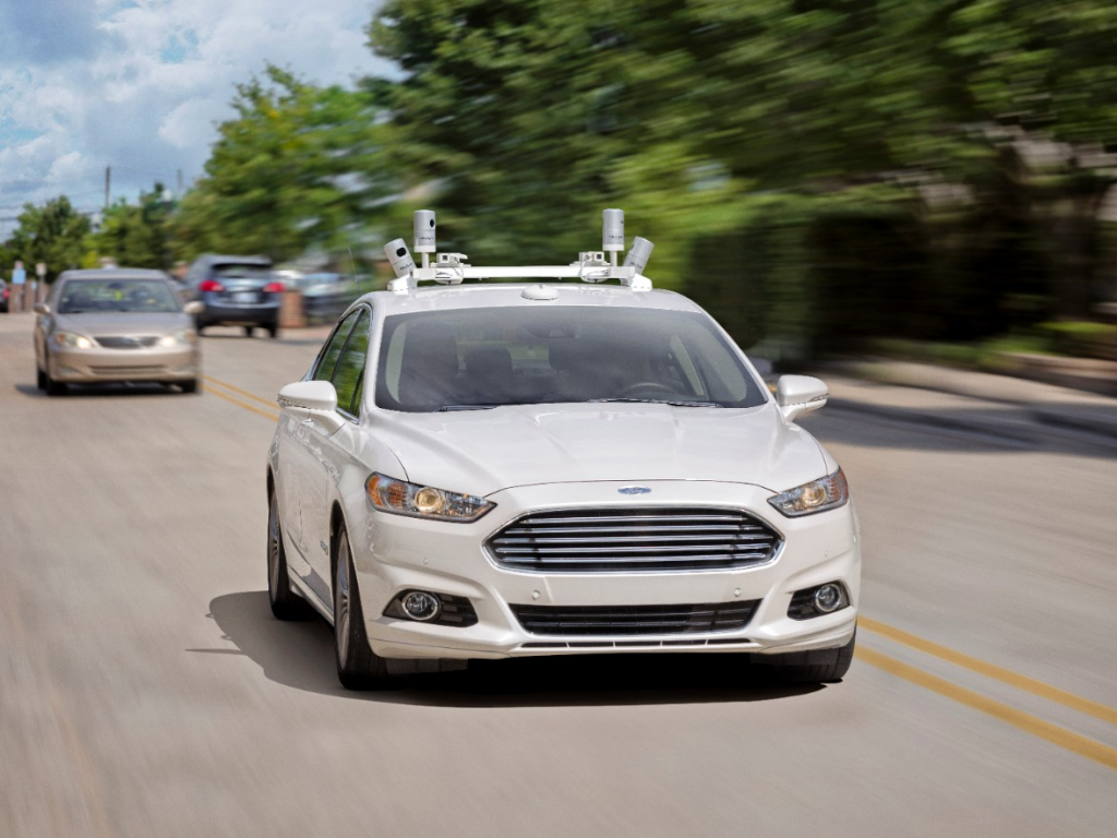 ford autonomous test car