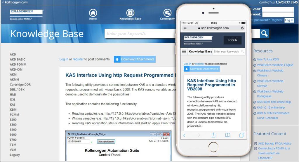 1 Kollmorgen KDN Easy to use - mobile and desktop