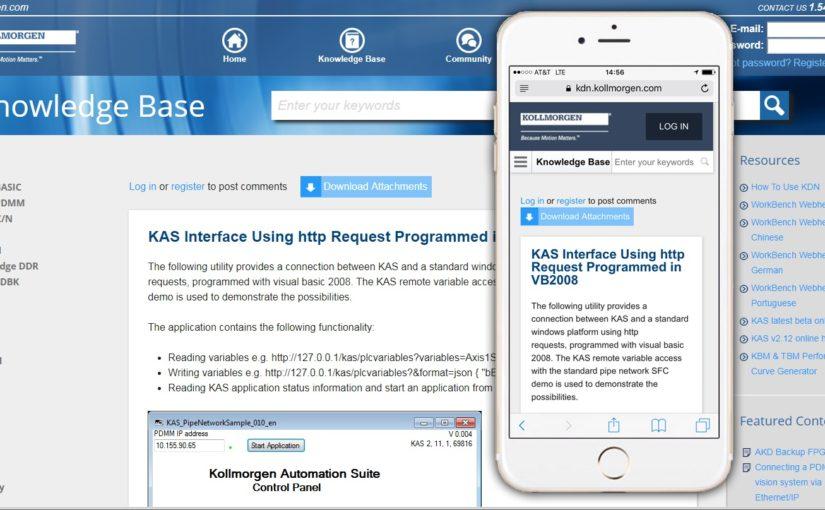 Kollmorgen updates its developer network software