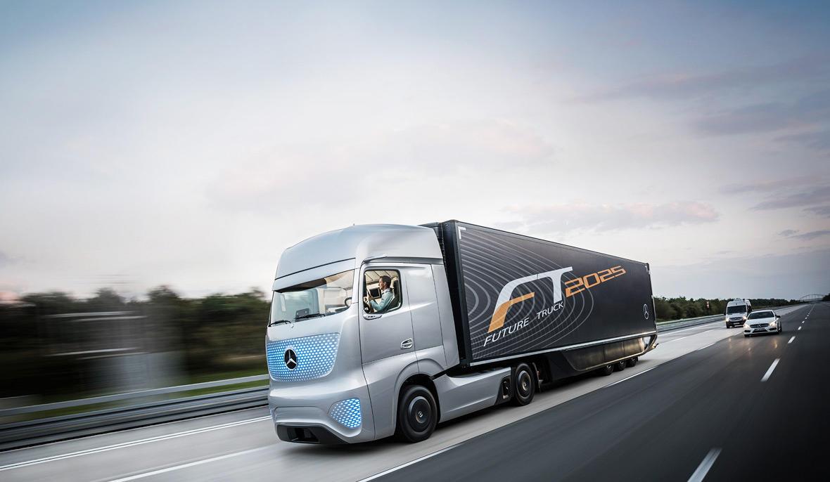 Mercedes driverless truck