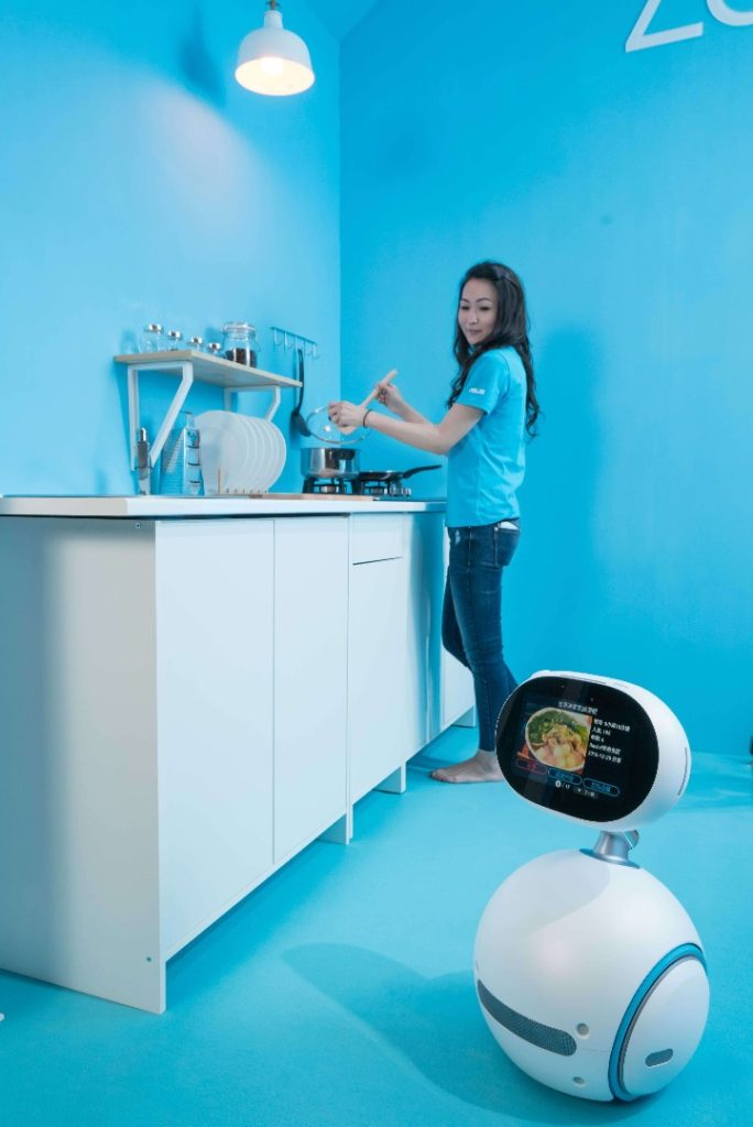 Zenbo is also a hands-free household helper who enriches the home with a broad range