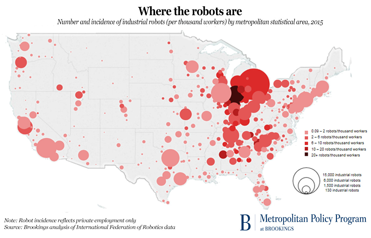 brookings robot map
