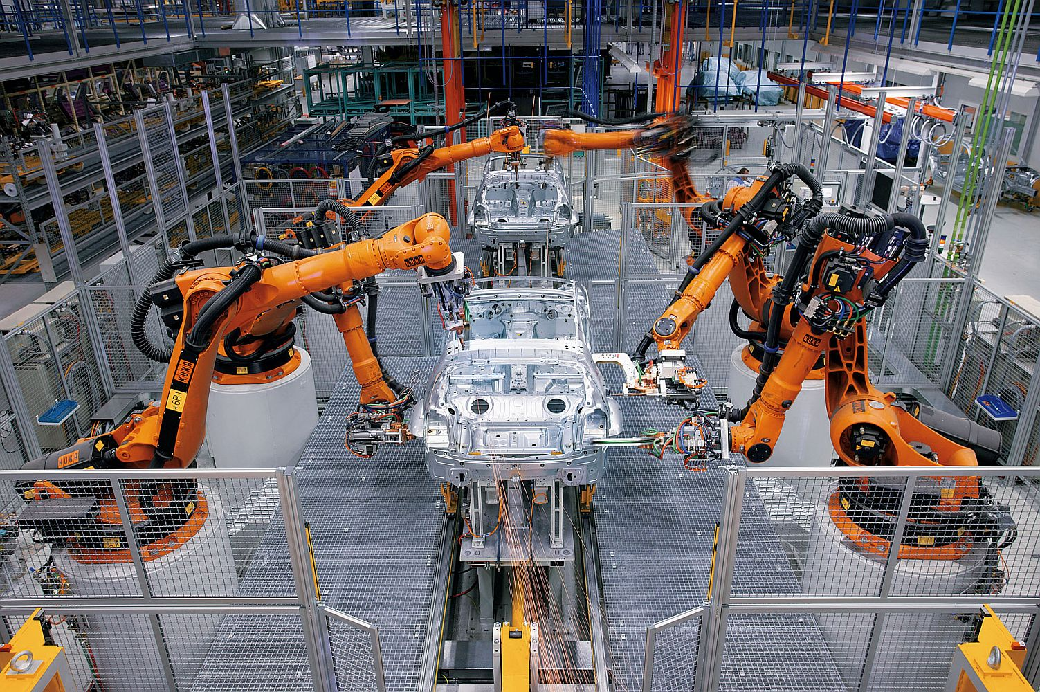 kuka robots car production