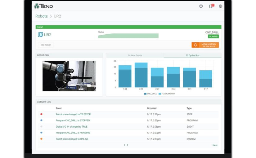 Tend launches robot performance management software