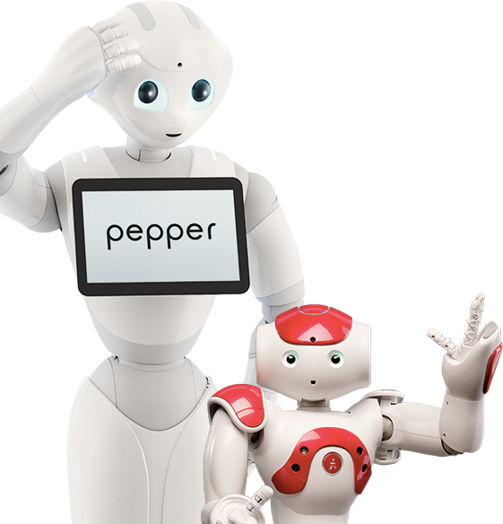 pepper and nao robots