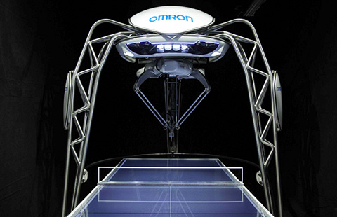 omron table tennis robot