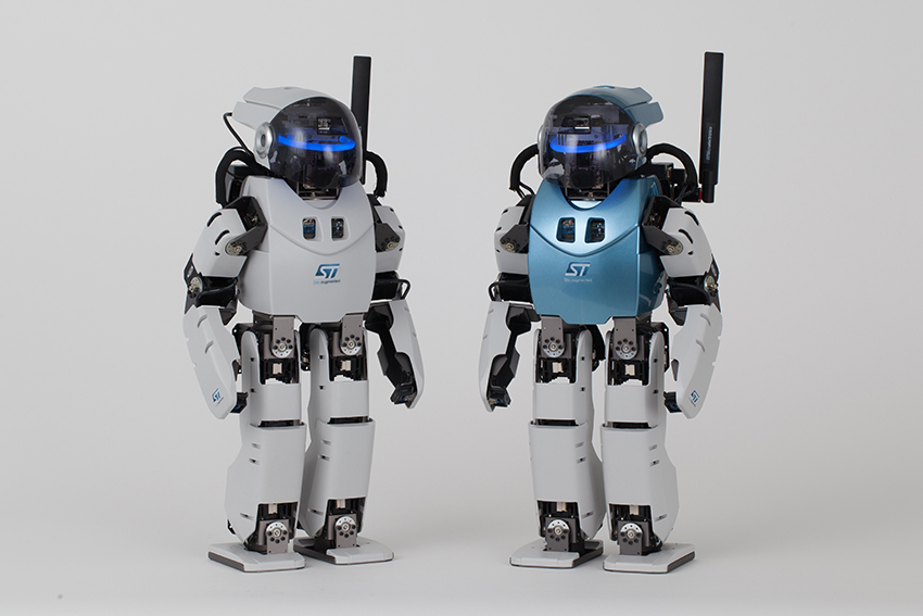 STMicroelectronics partners with Asratec to demonstrate humanoid robot