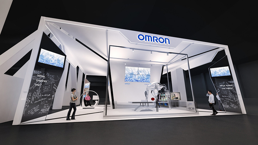 Prototype of Omron's stand at CES