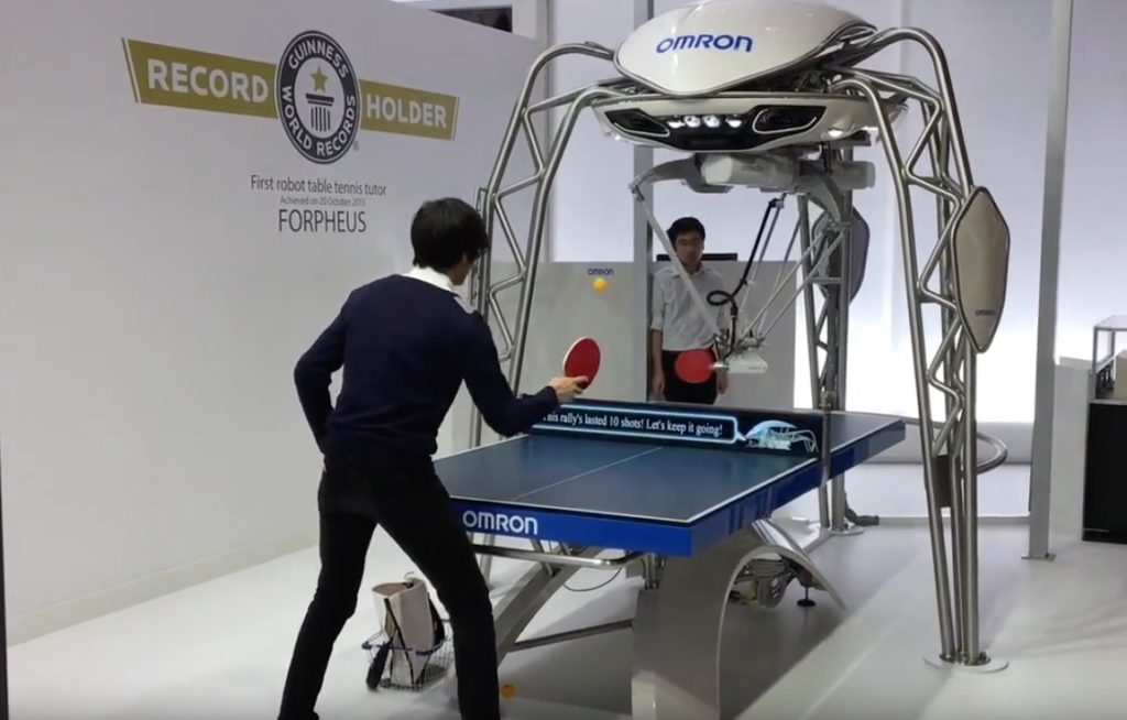 omron table-tennis robot