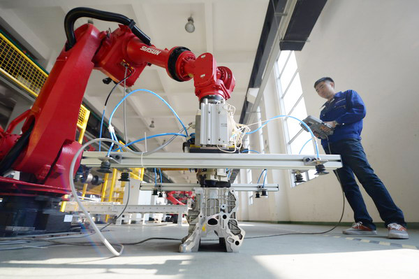 Picture of a Siasun industrial robot, courtesy of China Daily