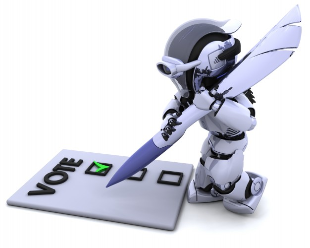 robot-giving-his-vote