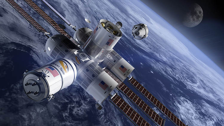 Rendering of Aurora space station