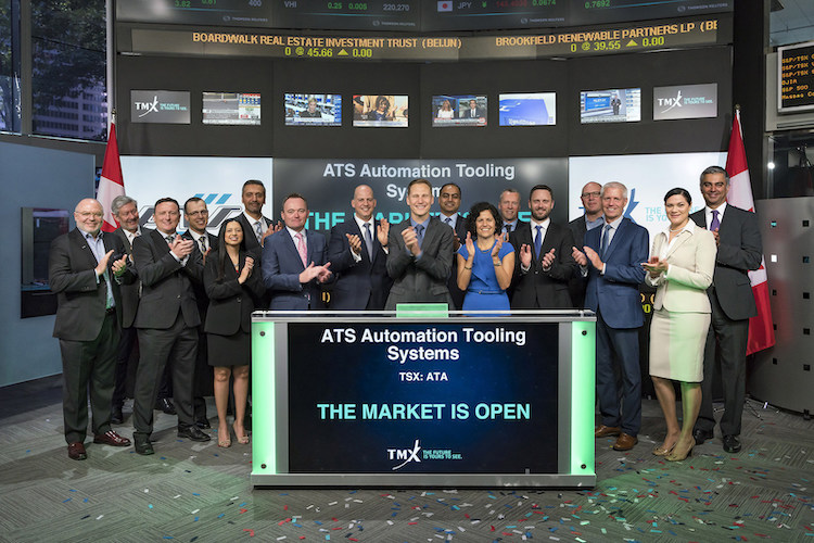 ATS Automation Tooling Systems Inc. Opens the Market (CNW Group/TMX Group Limited)