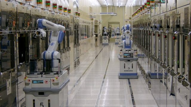 Global spending on semiconductor fabrication equipment set