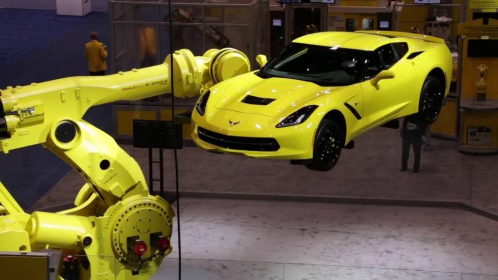fanuc robot lifting car