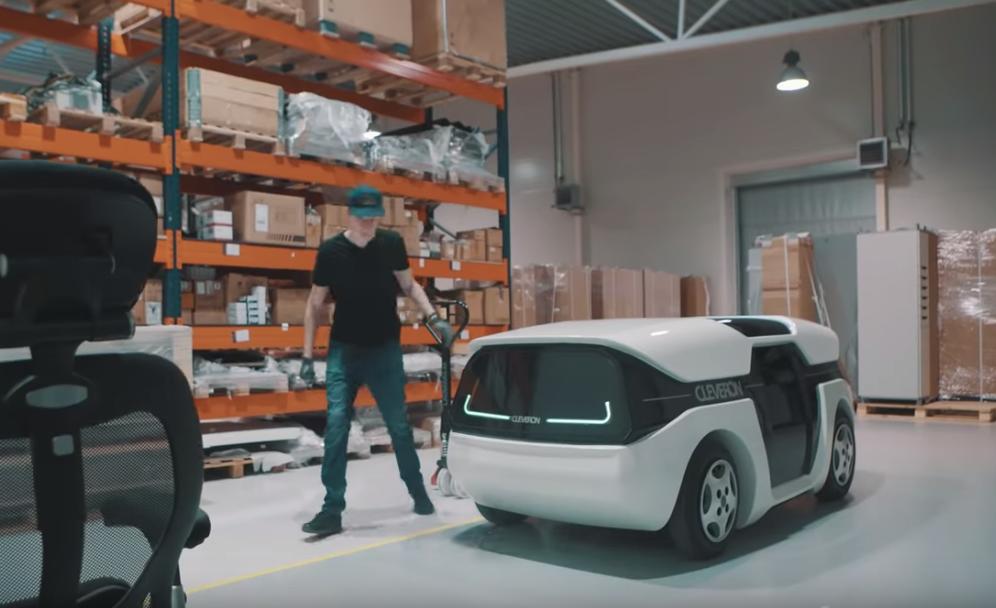 cleveron courier robot