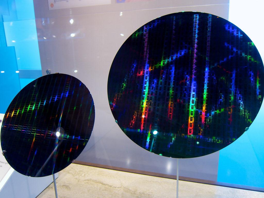 silicon wafer colourful