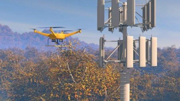 drone-inspecting-stp-telecom-tower