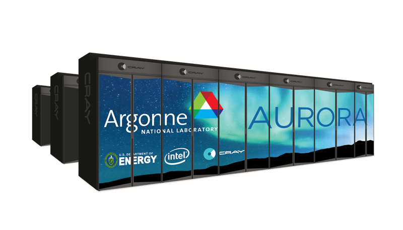 Intel will deliver the Aurora supercomputer, the United States' first exascale system, to Argonne National Laboratory in 2021. Aurora will incorporate a future Intel Xeon Scalable processor, Intel Optane DC Persistent memory, Intel's Xe compute architecture and Intel OneAPI programming framework -- all anchored to Intel's six key pillars of innovation. (Credit: Argonne National Laboratory)