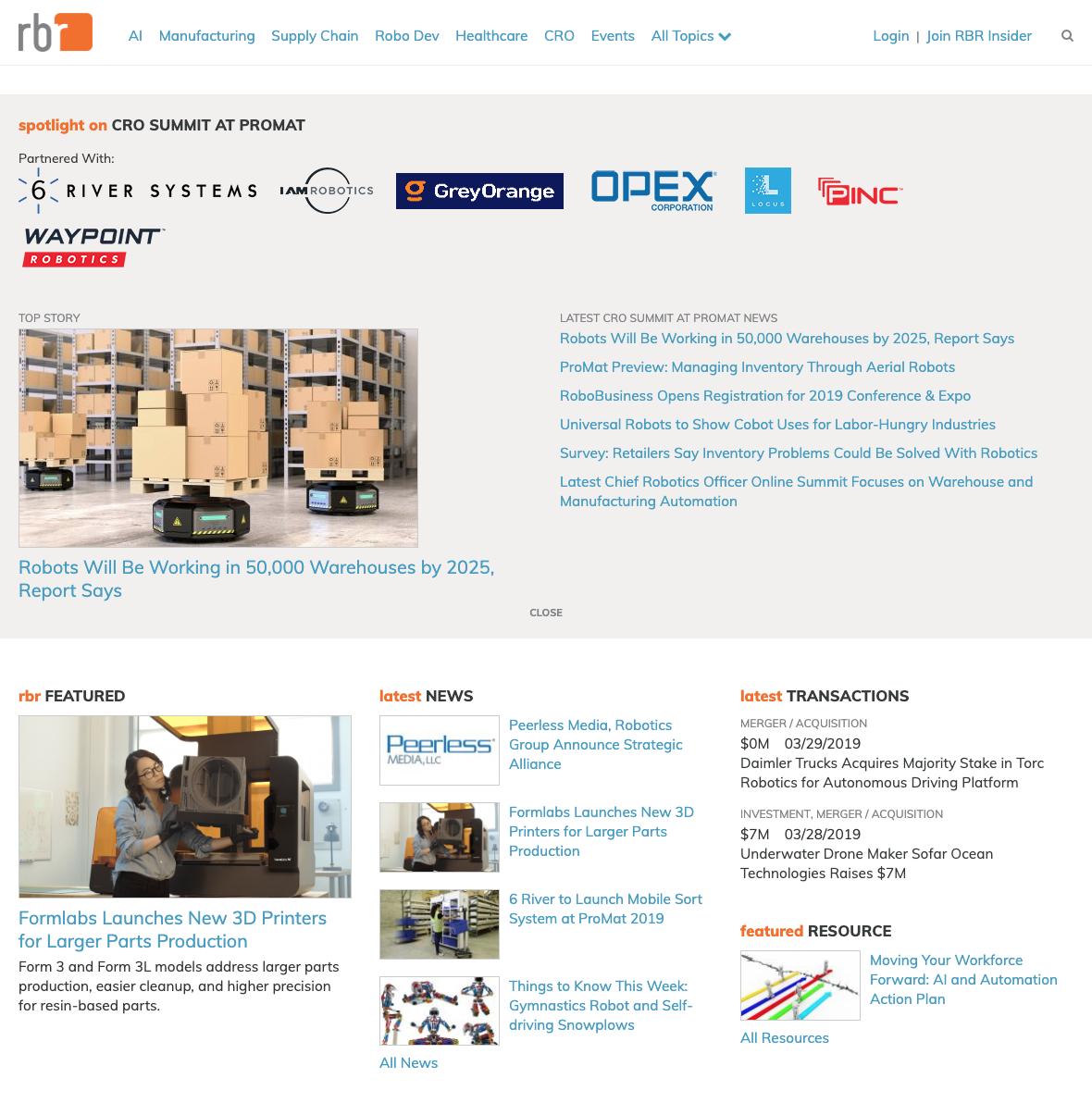 robotics business review home page