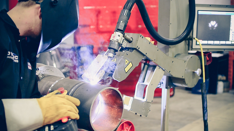 Collaborative robots working with human welders in