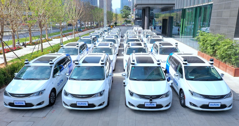 AutoX puts fully driverless RoboTaxis on the roads in China AutoX-Driverless-Fleet-1-2